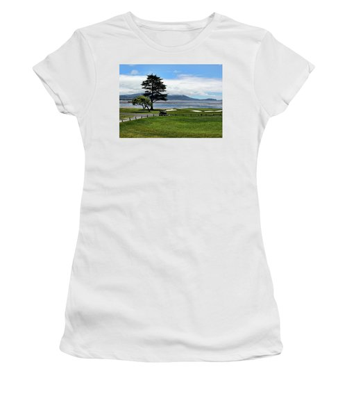 18th At Pebble Beach Horizontal Women's T-Shirt (Athletic Fit)