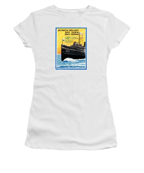 1910 Detroit To Buffalo Steamship Women's T-Shirt