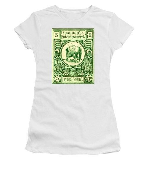 1920 Armenian Eagle 3r Stamp Women's T-Shirt
