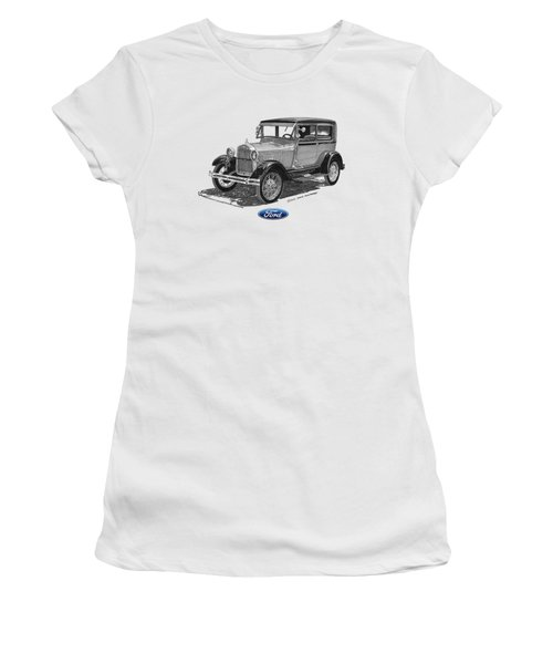 Model A Ford 2 Door Sedan Women's T-Shirt