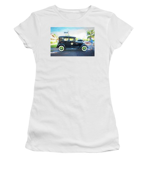 1929 Ford Model A Tudor Police Sedan  Women's T-Shirt (Junior Cut) by Rich Franco