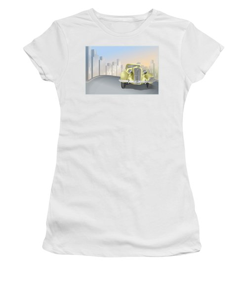 1930's Plymouth Sedan Women's T-Shirt (Athletic Fit)