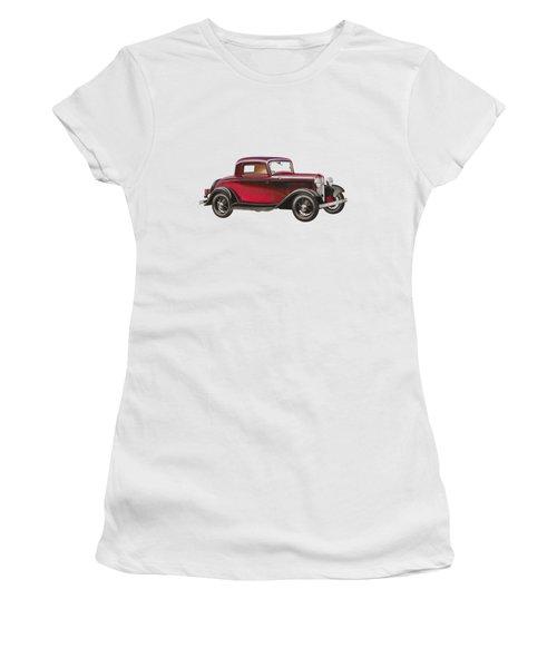 1932 Ford Deluxe Women's T-Shirt (Junior Cut) by John Haldane
