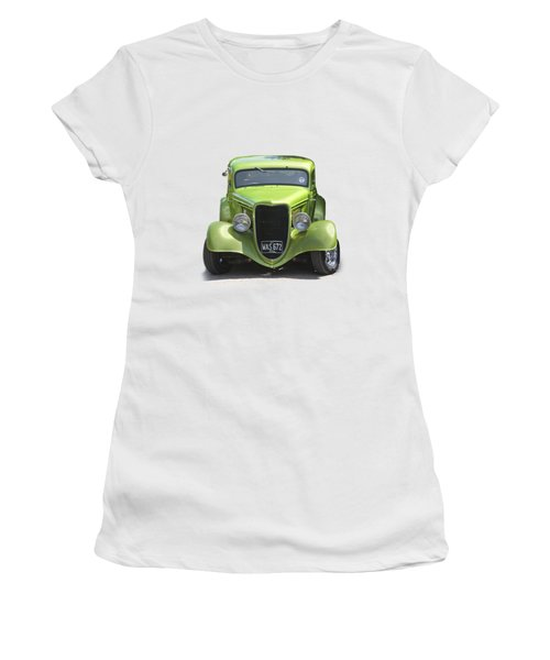 1934 Ford Street Hot Rod On A Transparent Background Women's T-Shirt