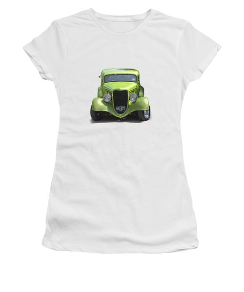 1934 Ford Street Hot Rod On A Transparent Background Women's T-Shirt (Athletic Fit)