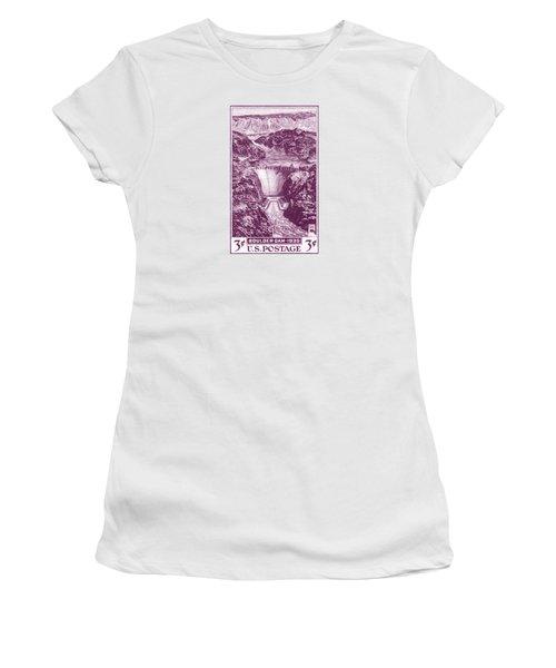 1935 Boulder Dam Stamp Women's T-Shirt