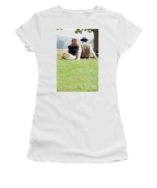 1940s Couple Sitting In The Sunshine Women's T-Shirt (Athletic Fit)