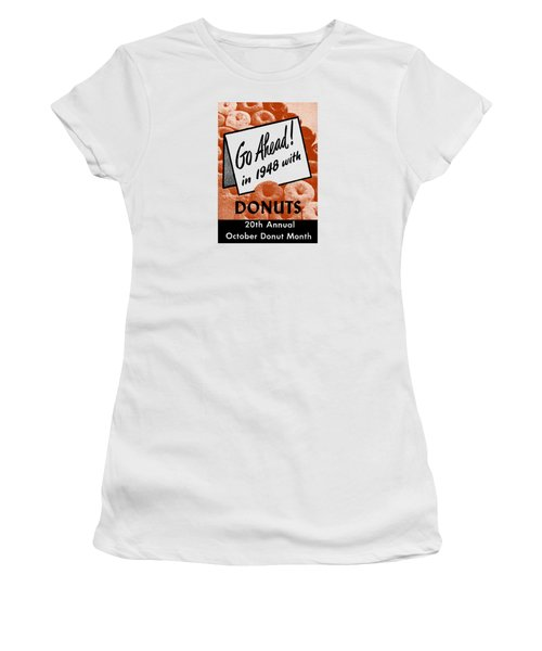1948 Donut Poster Women's T-Shirt (Junior Cut) by Historic Image