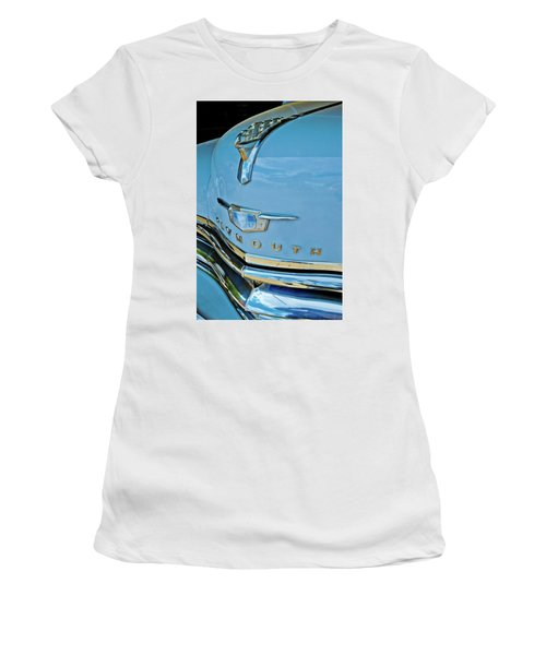 Women's T-Shirt (Junior Cut) featuring the photograph 1950 Plymouth Coupe by Linda Unger