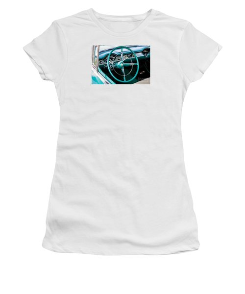 Women's T-Shirt (Junior Cut) featuring the photograph 1955 Chevrolet Bel Air by M G Whittingham