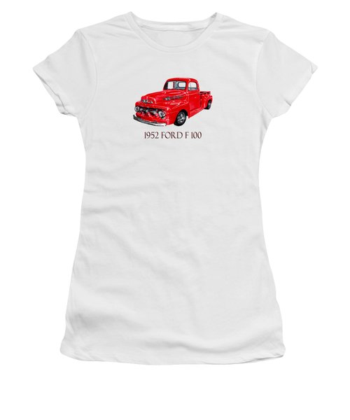 Big Red 1952 Ford F-100 Pick Up Women's T-Shirt (Athletic Fit)