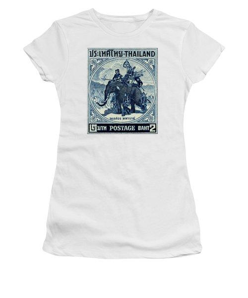 1955 Thailand War Elephant Stamp Women's T-Shirt