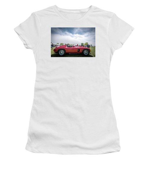 Women's T-Shirt (Junior Cut) featuring the photograph 1956 Ferrari 290mm by Randy Scherkenbach