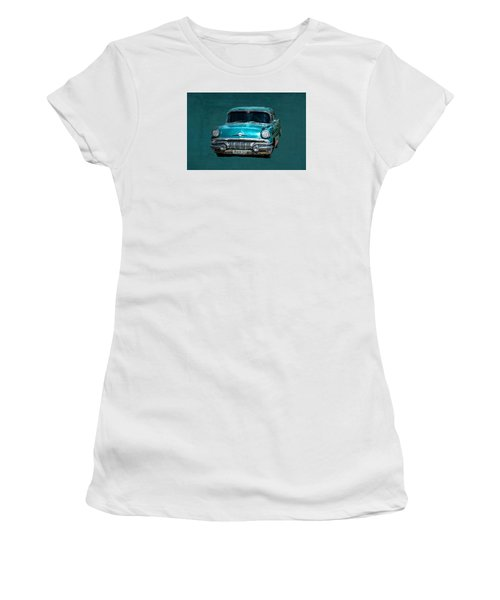 1957 Pontiac Bonneville Women's T-Shirt (Athletic Fit)