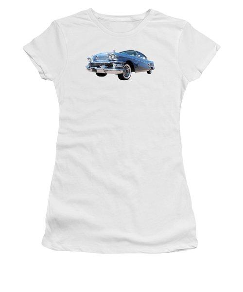 1958 Buick Roadmaster 75 In A Blue Mood Women's T-Shirt