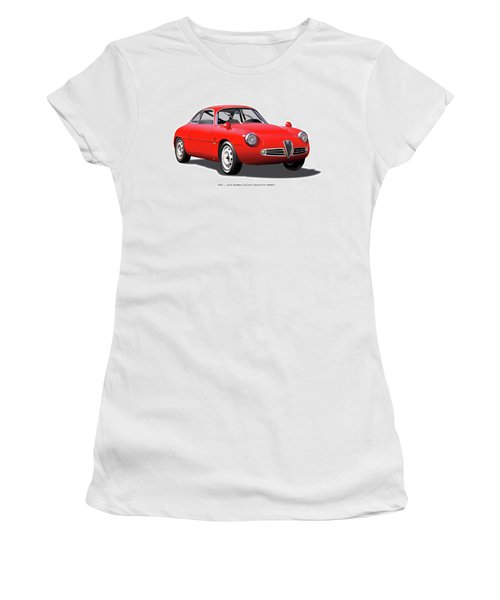 1960 Alfa Romeo Zagato Giulietta Sprint Women's T-Shirt (Junior Cut) by Alain Jamar