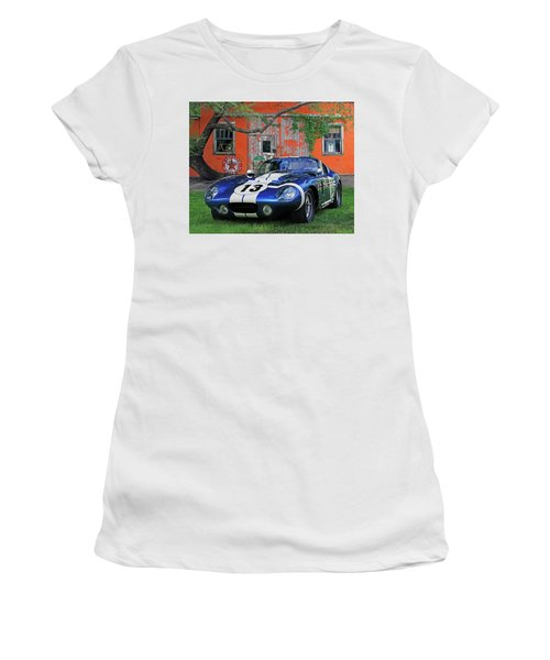 Women's T-Shirt (Junior Cut) featuring the photograph 1964 Cobra Daytona Coupe by Christopher McKenzie