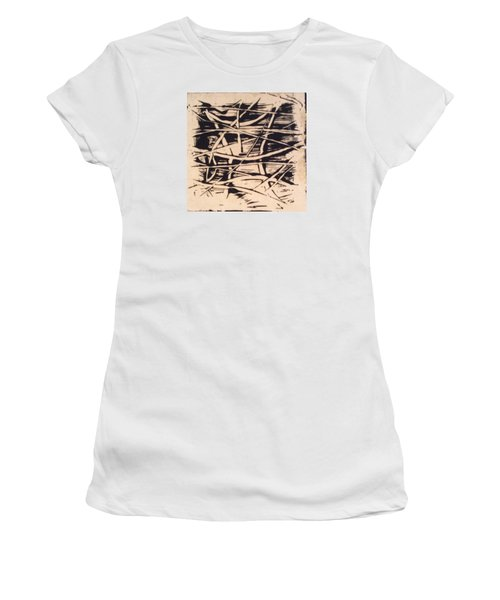 Women's T-Shirt (Junior Cut) featuring the painting 1967 by Erika Chamberlin