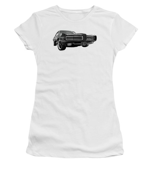Women's T-Shirt (Junior Cut) featuring the photograph 1969 Pontiac Gto The Goat by Gill Billington
