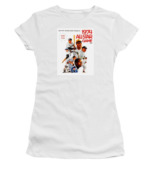 1974 Baseball All Star Game Program Women's T-Shirt (Athletic Fit)