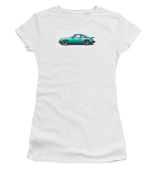 1976 Porsche Euro Carrera 2.7 Illustration Women's T-Shirt (Junior Cut) by Alain Jamar