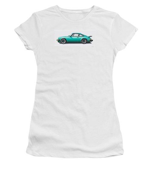 1976 Porsche Euro Carrera 2.7 Illustration Women's T-Shirt (Athletic Fit)