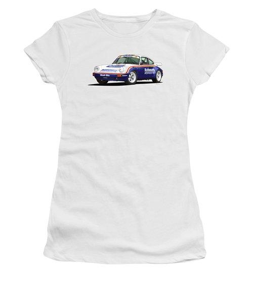 1984 Porsche 911 Sc Rs Illustration Women's T-Shirt (Junior Cut) by Alain Jamar