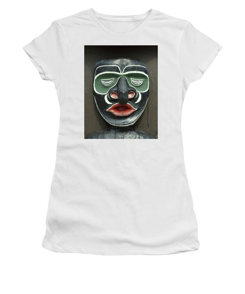 1a2923 Native American Mask Carving  Women's T-Shirt