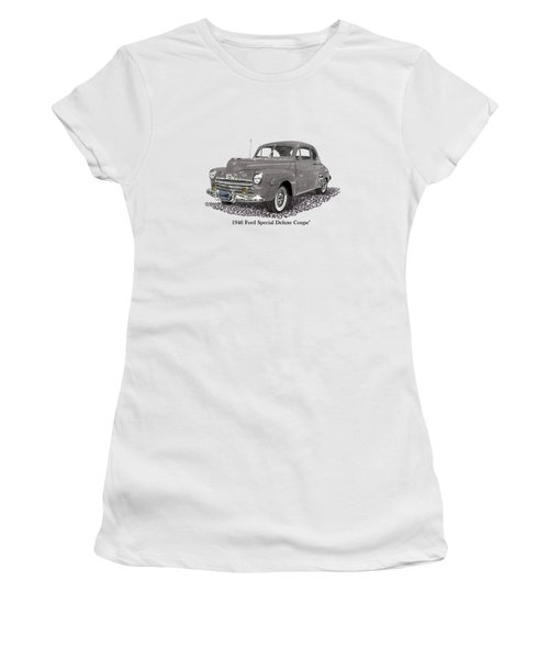 1946 Ford Special Deluxe Coupe Women's T-Shirt (Athletic Fit)