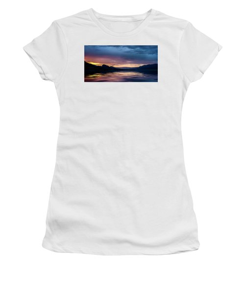 Women's T-Shirt (Athletic Fit) featuring the photograph Across The Clouds I See My Shadow Fly by John Poon