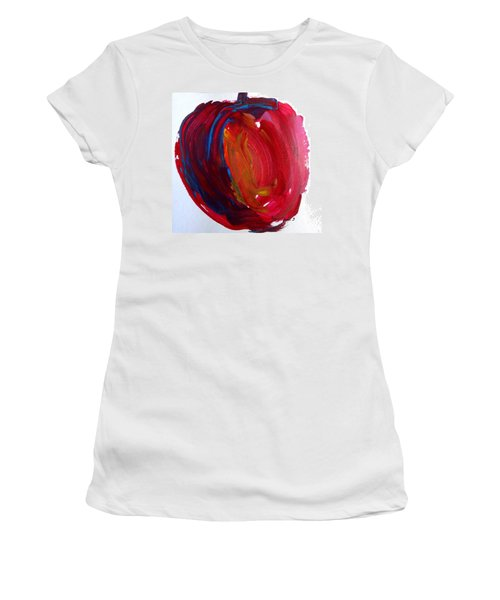 Women's T-Shirt (Junior Cut) featuring the painting Apple by Fred Wilson