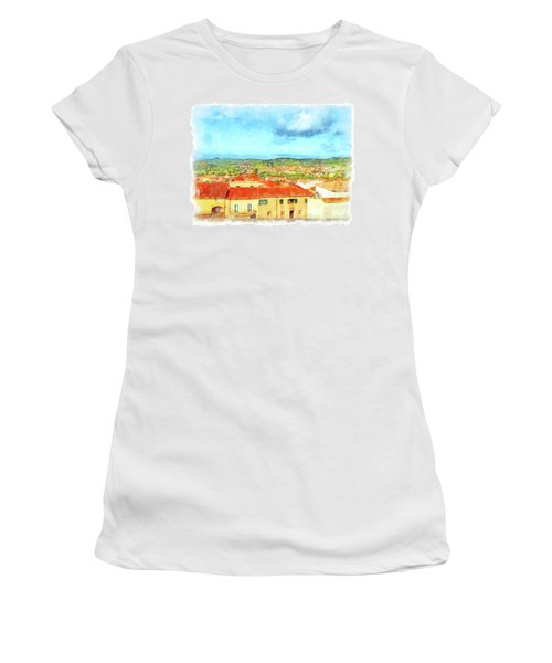 Arzachena Landscape Women's T-Shirt (Athletic Fit)