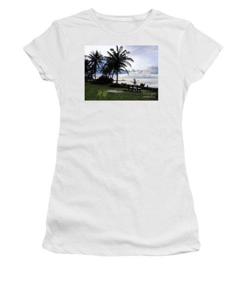 Asan Beach Guam Women's T-Shirt (Athletic Fit)