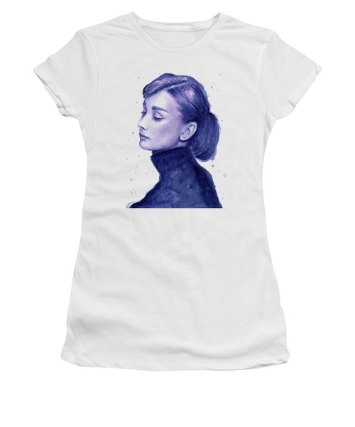 Audrey Hepburn Portrait Women's T-Shirt (Athletic Fit)