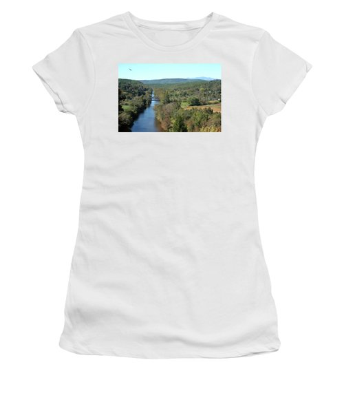Autumn Landscape With Tye River In Nelson County, Virginia Women's T-Shirt (Junior Cut) by Emanuel Tanjala