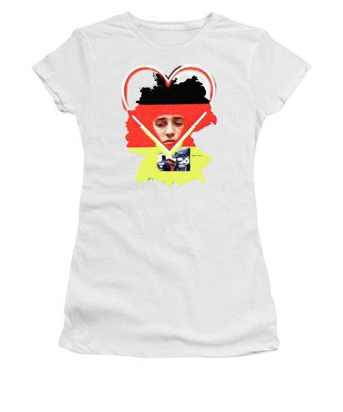 Berlin Christmas Market Women's T-Shirt (Junior Cut) by Rafael Salazar