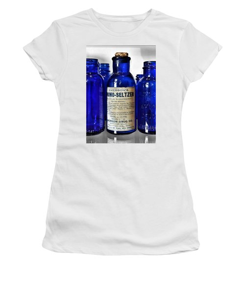 Bromo Seltzer Vintage Glass Bottles Collection Women's T-Shirt (Athletic Fit)