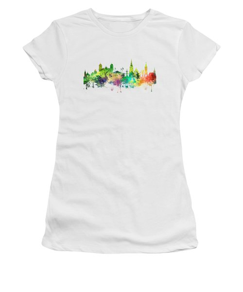 Christchurch Nz Skyline Women's T-Shirt (Athletic Fit)