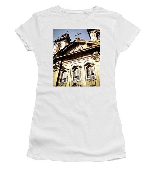 Church Women's T-Shirt (Junior Cut) by Cesar Vieira