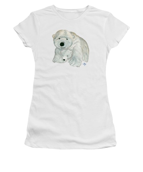 Cuddly Polar Bear Women's T-Shirt (Athletic Fit)