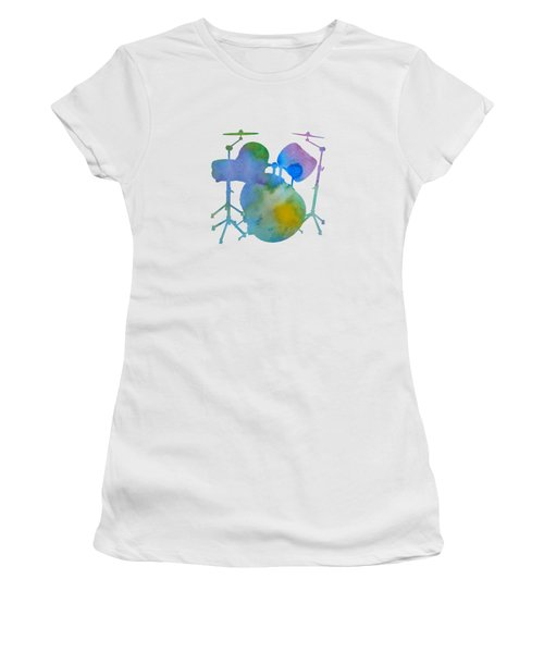 Drums Women's T-Shirt (Athletic Fit)