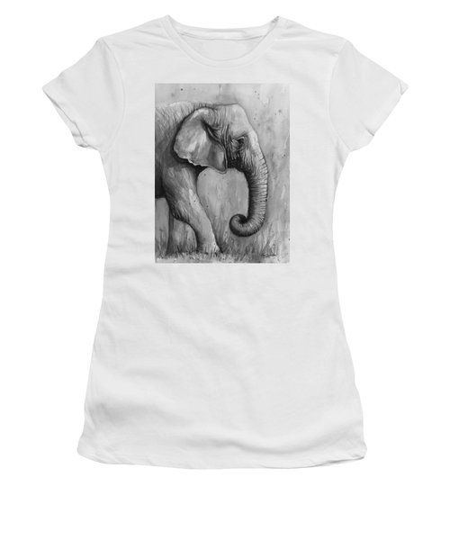 Elephant Watercolor Women's T-Shirt (Athletic Fit)