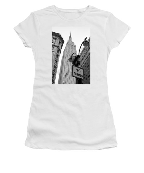 Empire State Building Women's T-Shirt (Junior Cut) by Michael Dorn