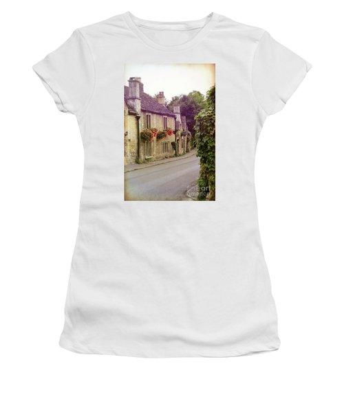 Women's T-Shirt (Junior Cut) featuring the photograph English Village by Jill Battaglia