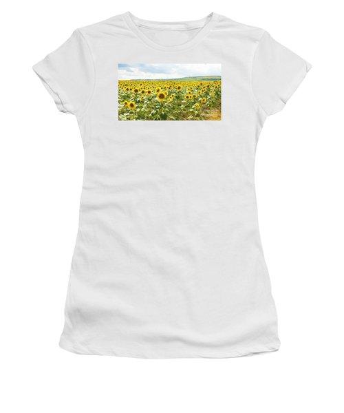 Field With Sunflowers Women's T-Shirt (Junior Cut) by Irina Afonskaya