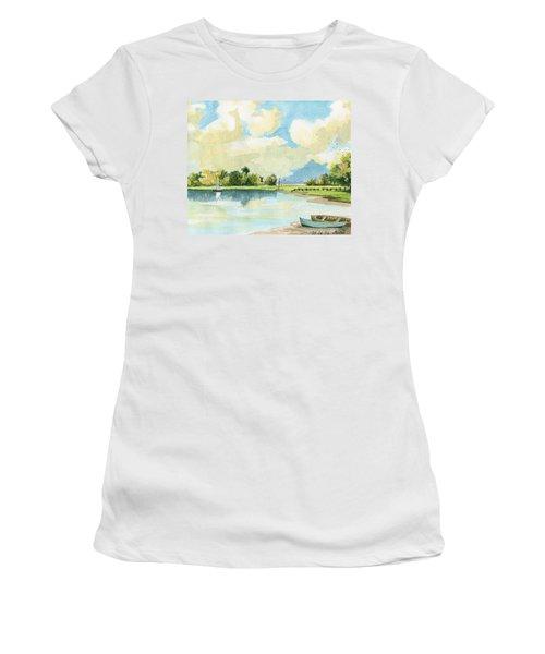 Fishing Lake Women's T-Shirt (Athletic Fit)