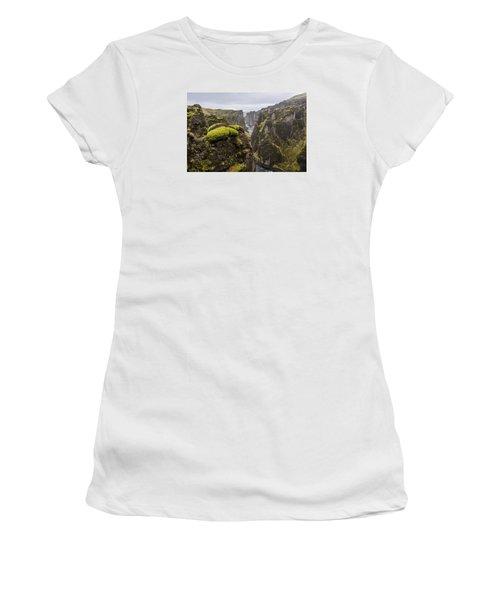 Women's T-Shirt featuring the photograph Fjadrargljufur by James Billings