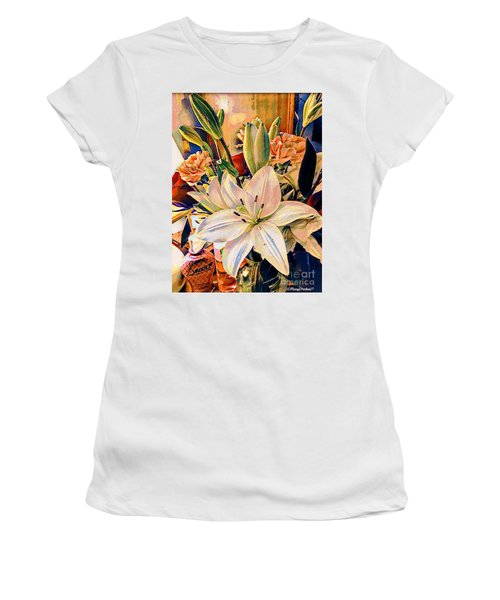 Flowers For You Women's T-Shirt (Junior Cut) by MaryLee Parker