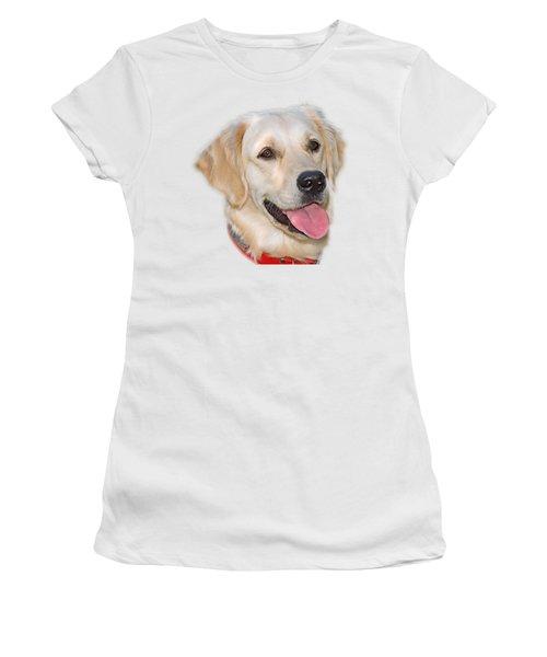 Golden Retriever Women's T-Shirt (Junior Cut) by George Atsametakis