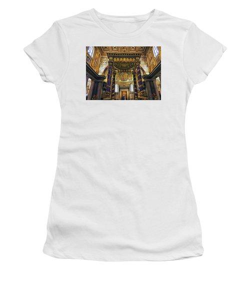 Interior View Of The Basilica Di Santa Maria Maggiore In Rome Italy Women's T-Shirt (Athletic Fit)
